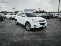 Clean CARFAX. Summit White 2015 Chevrolet Equinox LT