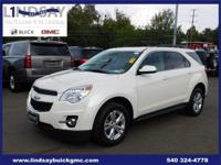 Options:  2015 Chevrolet Equinox Lt|White|Certified.