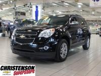 CARFAX One-Owner. Black 2015 Chevrolet Equinox LT 2LT