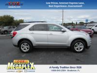 This 2015 Chevrolet Equinox LT in Silver is well