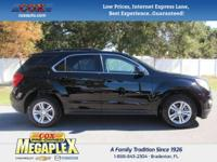This 2015 Chevrolet Equinox LT in Black is well