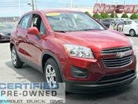 New Price! This 2015 Chevrolet Trax LS in Ruby Red