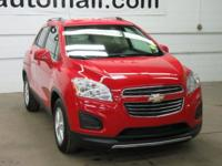 CARFAX One-Owner. Clean CARFAX. Red 2015 Chevrolet Trax