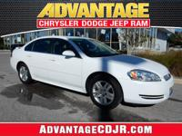 This White 2015 Chevrolet Impala Limited has LOW MILES!