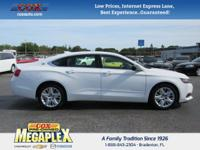 This 2015 Chevrolet Impala LS in White is well equipped