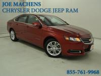 Clean CARFAX. Certified. Red 2015 Chevrolet Impala LT