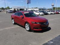 CARFAX One-Owner. Red 2015 Chevrolet Impala LT 1LT FWD