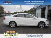 This 2015 Chevrolet Impala LT in White is well equipped