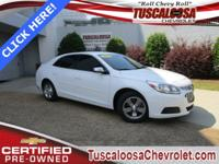 GM Certified. This 2015 Chevrolet Malibu LS in Summit