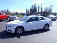 CARFAX One-Owner. 2015 Chevrolet Malibu LS White One