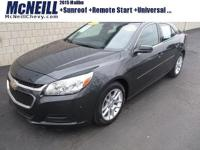 This 2015 Chevrolet Malibu LT in Ashen Gray Metallic