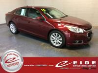 This 2015 Chevrolet Malibu 2LT is Butte Red Metallic