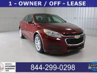 1 OWNER. 2015 Chevrolet Malibu FWD 6-Speed Automatic