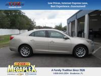 This 2015 Chevrolet Malibu LT in Champagne Silver