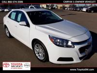 Options:  2015 Chevrolet Malibu Lt|White|One