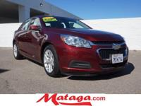 2015 Chevrolet Malibu LT in Butte Red Metallic with Jet