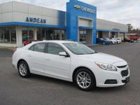 Options:  2015 Chevrolet Malibu Lt|White|Lifetime