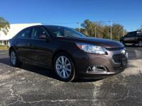 Certified. Purple 2015 Chevrolet Malibu LT 2LT FWD