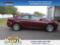 This 2015 Chevrolet Malibu LTZ in Maroon is well