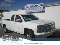 Clean CARFAX. Summit White 2015 Chevrolet Silverado