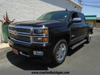 Clean CARFAX. Black 2015 Chevrolet Silverado 1500 High