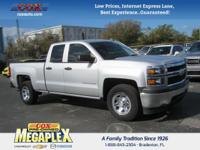 This 2015 Chevrolet Silverado 1500 LS in Silver Ice