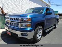 Clean CARFAX. Blue 2015 Chevrolet Silverado 1500 LT RWD
