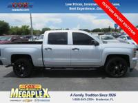 This 2015 Chevrolet Silverado 1500 LT in Silver Ice