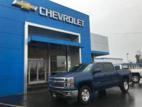 Clean CARFAX. Deep Ocean Blue Metallic 2015 Chevrolet
