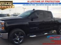 New Price! Certified. Black 2015 Chevrolet Silverado