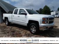 White 2015 Chevrolet Silverado 1500 LT 6-Speed