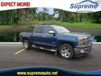 Certified. Deep Ocean Blue Metallic 2015 Chevrolet