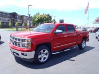 CARFAX One-Owner. 2015 Chevrolet Silverado 1500 LTZ Red