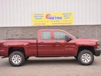 2015 Chevrolet Silverado 1500 WT  in Red, CLEAN CARFAX,