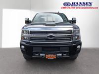 Clean CARFAX. Black 2015 Chevrolet Silverado 2500HD