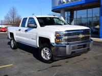 White 2015 Chevrolet Silverado 2500HD LT 4WD 6-Speed