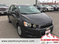 This 2015 Chevrolet Sonic  has a 1.8 liter 4 Cylinder