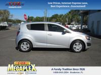 This 2015 Chevrolet Sonic LT in Silver is well equipped