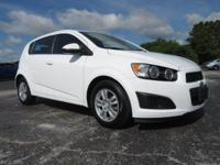Certified. White 2015 Chevrolet Sonic LT FWD 6-Speed