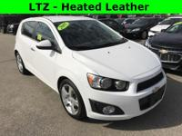 LTZ - Summit White on Black Leather interior -
