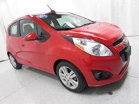 2015 Chevrolet Spark 1LT Red Clean CARFAX. Odometer is