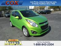 This 2015 Chevrolet Spark LS in Lime Metallic is well
