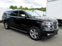 CARFAX One-Owner. Black 2015 Chevrolet Suburban LTZ 4WD