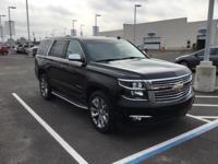 CARFAX One-Owner. Black 2015 Chevrolet Tahoe LTZ RWD