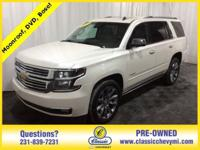 CARFAX One-Owner. White 2015 Chevrolet Tahoe LTZ 4WD
