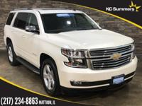 Certified. 2015 Chevrolet Tahoe White Diamond Tricoat