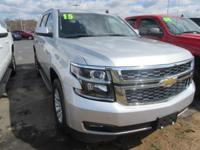 What a nice SUV! This Silver 2015 Chevrolet Tahoe will