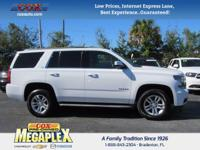 This 2015 Chevrolet Tahoe LS in Summit White is well