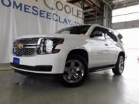 CARFAX One-Owner. White 2015 Chevrolet Tahoe LT RWD