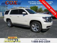 This 2015 Chevrolet Tahoe LT in Summit White is well